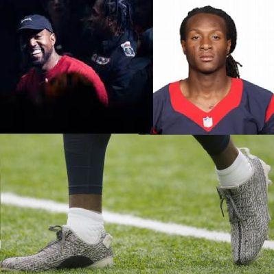 b44ea94121f00 MM92616 NFL Bans Kanye West s Yeezy Cleats as DeAndre Hopkins was ...